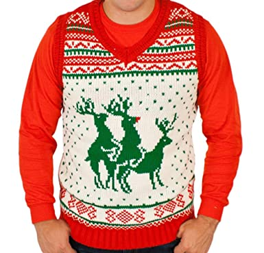 03500408cd98 Reindeer Threesome Sweater Vest Limited Edition in White By ...