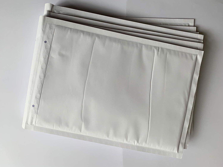 C4 wei/ß Luftpolsterumschl/äge Luftpolster-Versandtaschen 25 Luftpolstertaschen f/ür A4 350 x 240 mm mit Abziehstreifen
