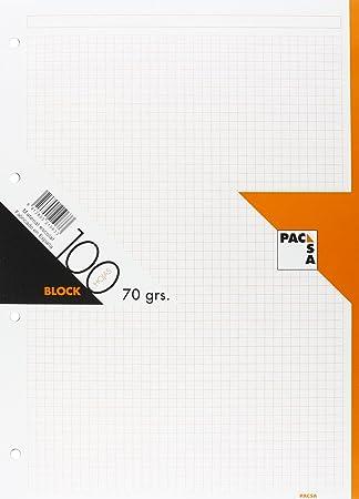Pacsa - Recambio Papel A4, 100 Hojas cuadriculadas GRECA, Color Naranja: Amazon.es: Juguetes y juegos