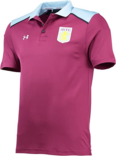 Under Armour Mens Gents Football Soccer Aston Villa Team Polo Shirt Purple 2xl Amazon Co Uk Clothing