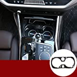 YIWANG Carbon Fiber Style ABS Car Cup Holder Decoration Frame Trim For 3 Series G20 G28 325 2019 2020 Auto Accessories