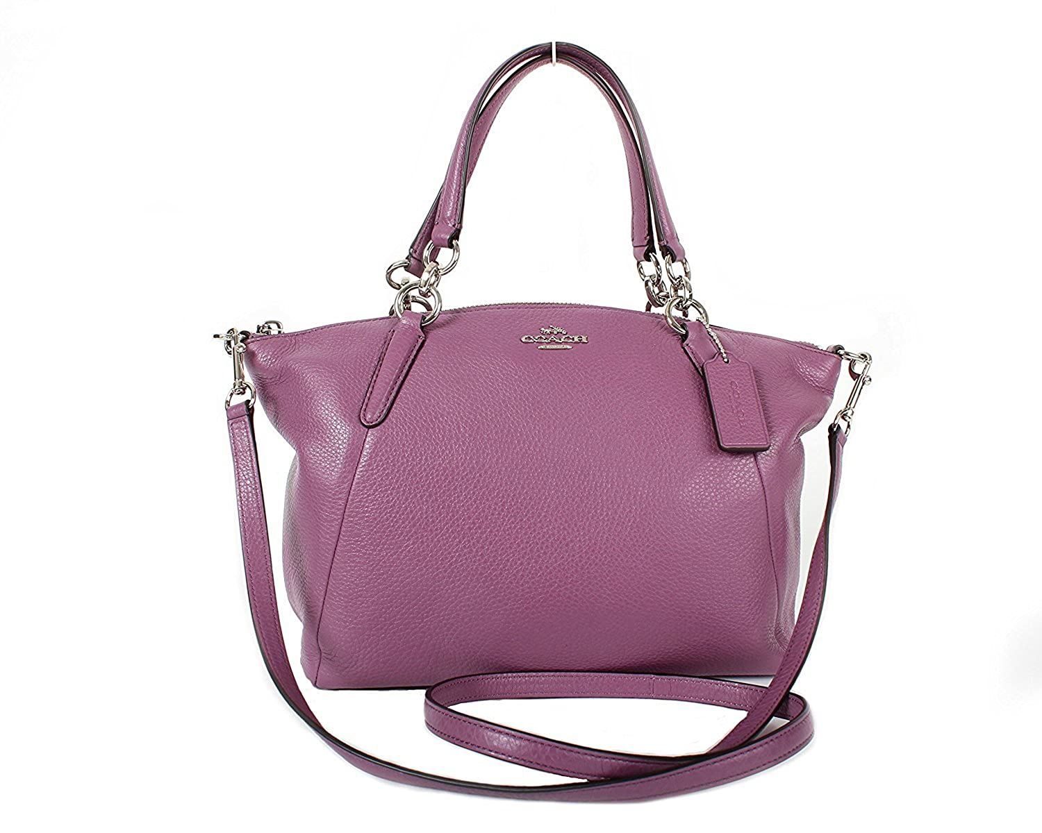 7aa2f0975022 Amazon.com  Coach F36675 Leather Small Kelsey Shoulder Bag Purple (Mauve)   Clothing
