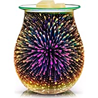 QUSUP Glass Electric Essential Oil Warmer Electric Incense Wax Tart Burner Wax Melt Warmer Fragrance Night Light Aroma Decorativ for Home Office Bedroom Living Room Gifts & Decor