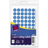 Avery Removable Color Coding Labels, 0.5 inch Round, Light Blue, Pack of 840 (5050)