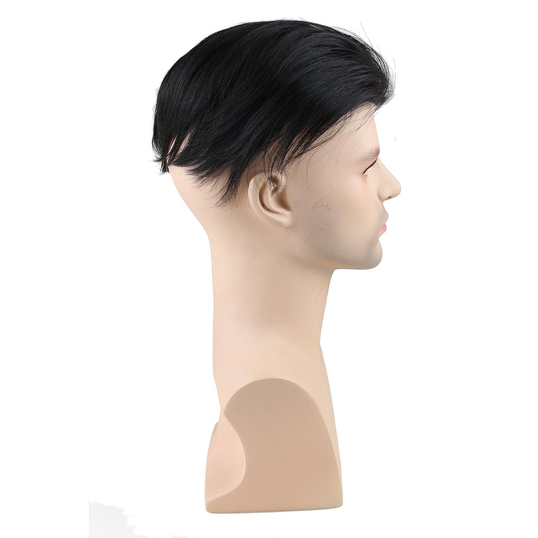 Men S Toupee Hairpiece Real Human Hair Straight
