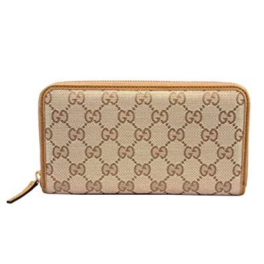 4b4768547db Image Unavailable. Image not available for. Color  Gucci Women s Original  GG Canvas Zip Around Wallet ...