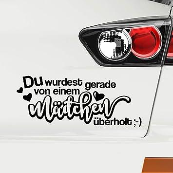 Du Wurdest Gerade Von Einem Madchen Uberholt Autoaufkleber Auto Aufkleber Lustige Spruche Frauen Madels Sticker Amazon De Auto