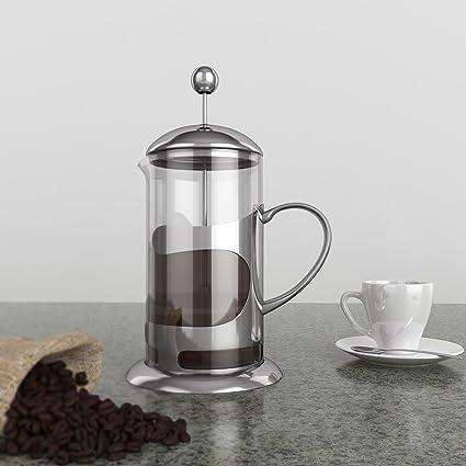 French Press/café y té/pressf filtro Tetera/cafetera Tetera de vidrio de