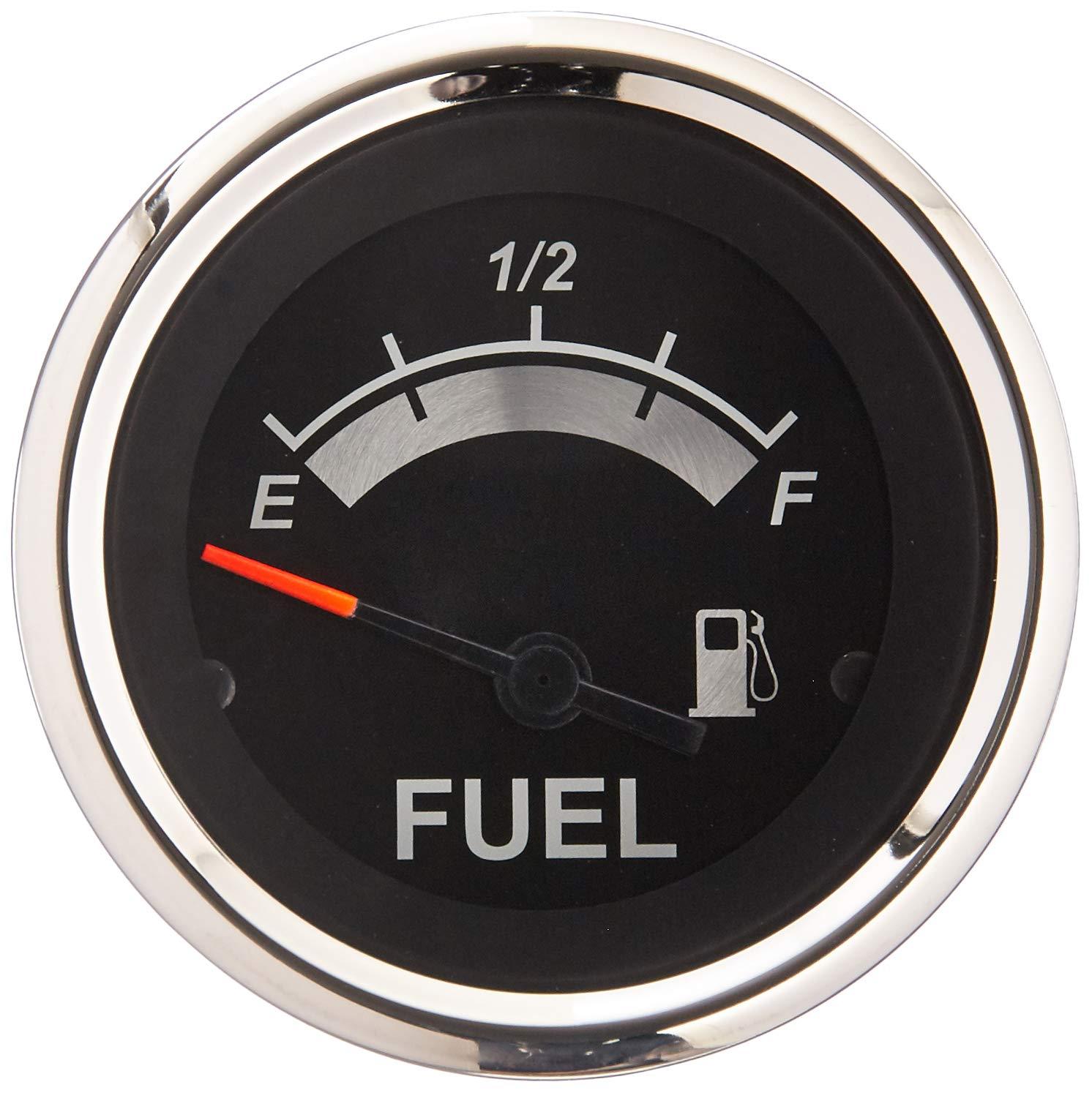 2 Black Sierra International 67021P Sterling Fuel Gauge