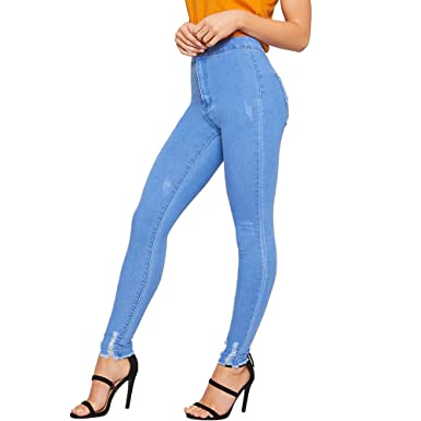 Simply Chic Outlet New Womens Ankle Grazer Skinny Denim