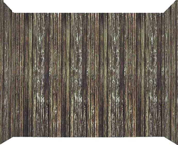 20ft x 4ft brown rotted wood wall backdrop halloween haunted house decoration