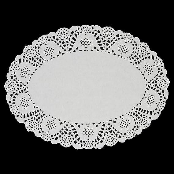 Papel Doilies - Paquete de encaje redondo 100 manteles individuales para tortas, postres, Baked Treat pantalla, ideal para decoración de bodas, ...