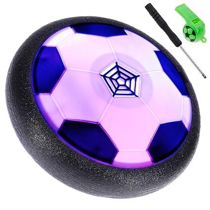 Lictin Air Fussball Hover Power Ball Indoor Fussball Mit Led Beleuchtung Geschenk Spielzeug Fur Kinder Haustier