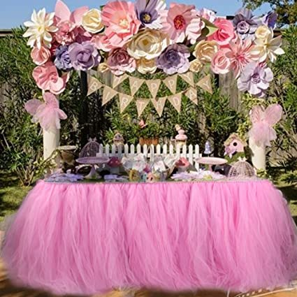 Amazon Table Skirt Tulle Table Skirt For Girl Princess Party