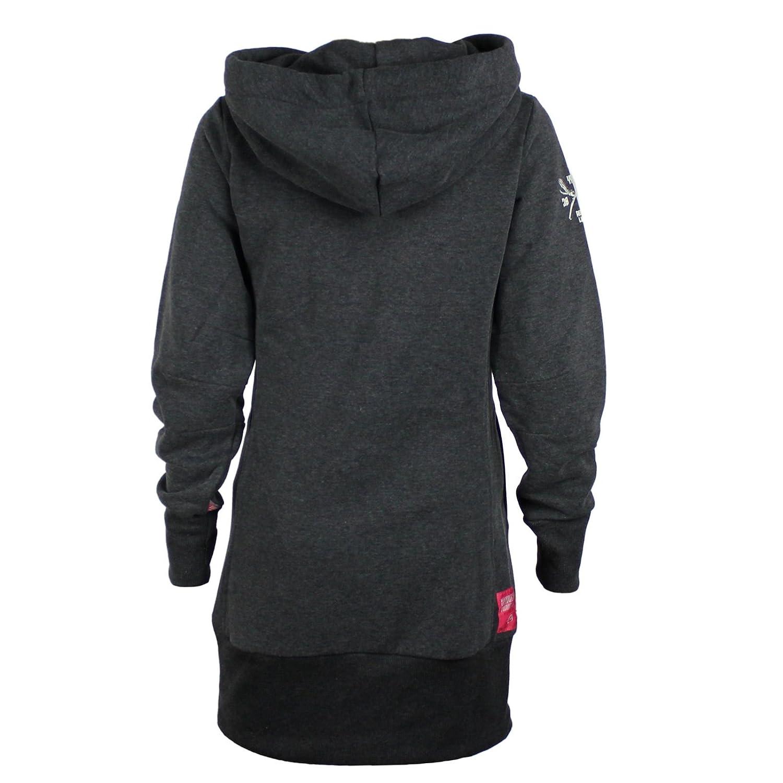 YAKUZA PREMIUM Damen Hoody GH-2443 Dunkelgrau Hoodies  Sweatshirts mit