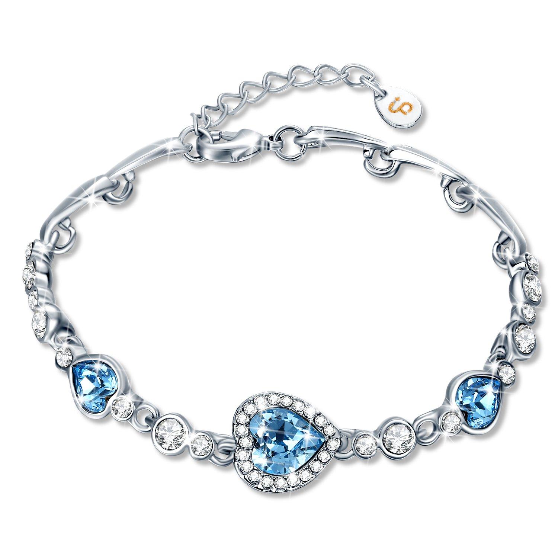 Collier, Fairy SeasonViolet cristaux de Swarovski Pendentif Bijoux Cadeau pour Femme Fille Boite-cadeau Sans Nickel Qualification de SGS Cadeaux de Noël Bracelet FS-161FR