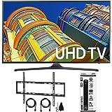 "Samsung UN70KU6300 - 70"" Class KU6300 6-Series 4K Ultra HD TV Flat Wall Mount Bundle includes TV, Flat Wall Mount Ultimate Kit and 6 Outlet Power Strip with Dual USB Ports"