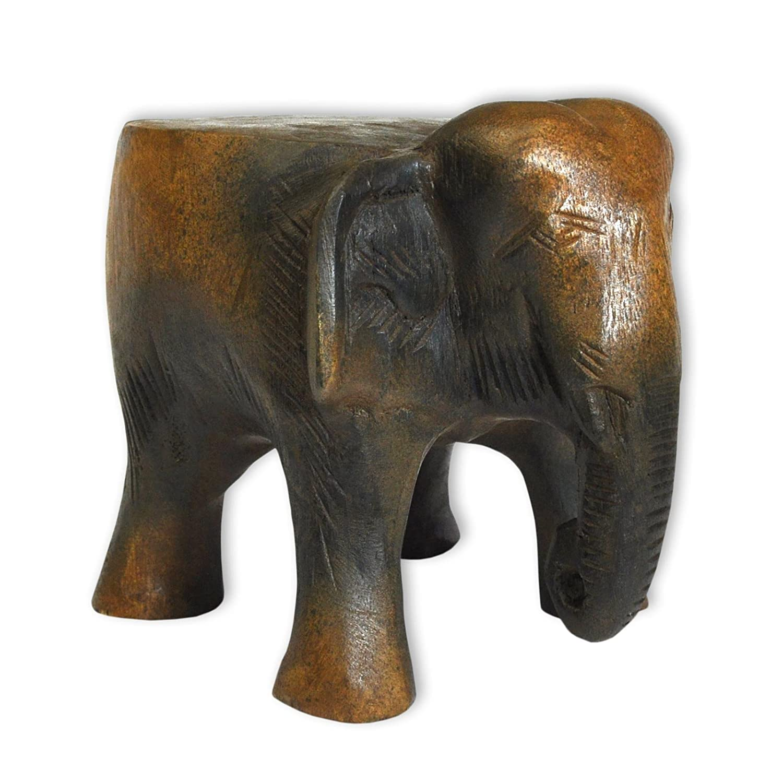Wilai Petite Table Eléphant en Bois, guéridon, décoration intérieure, importée de Thaïlande (10994) Wilai GmbH