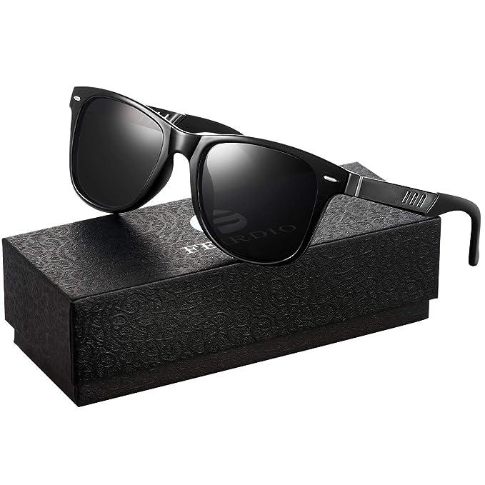 4a985ed2354c7 Sunglasses for Men and Women – Feirdio Retro Designer Openwork Metal Frame  Men Sunglasses 575 (
