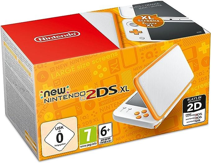 Nintendo New 2DS XL - Consola Portátil, Color Blanco y Naranja ...