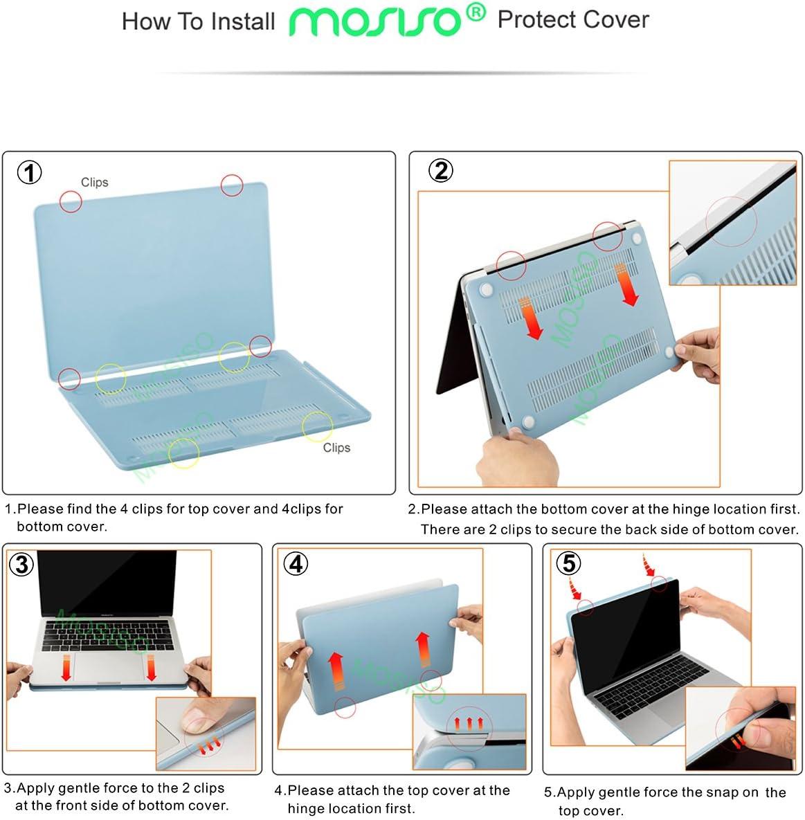 MOSISO Plastique Coque Rigide/&Protection Clavier/&Couverture de Webcam Compatible avec MacBook Pro 13 Pouces 2019 2018 2017 2016 Version A2159 A1989 A1706 A1708 avec//sans Touch Bar Bleu Marin