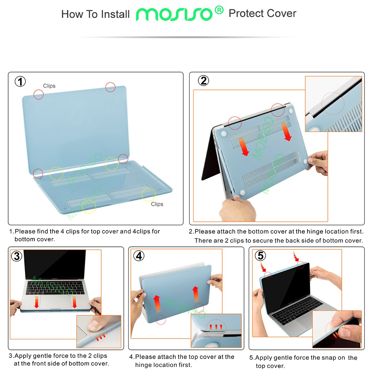 MOSISO MacBook Pro 15 Case 2018 2017 2016 Release A1990/A1707 Touch Bar Models, Plastic Hard Shell & Keyboard Cover & Screen Protector & Storage Bag Compatible Newest Mac Pro 15 Inch, Crystal Clear by MOSISO (Image #3)