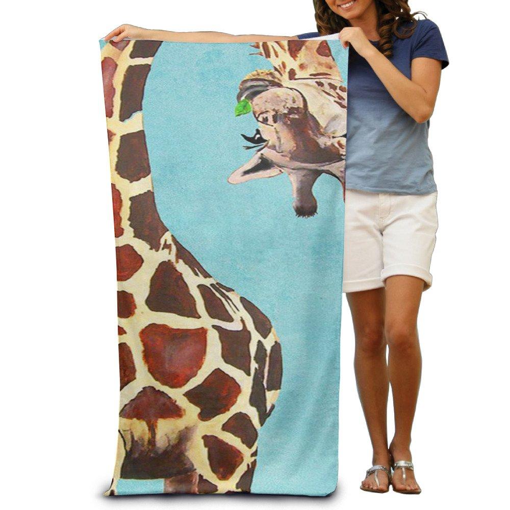 Chewing Giraffeレディースプールビーチタオル、タオル、スポーツタオル、太い、ソフト、クイックドライ、軽量、吸水性 B07484VTKT