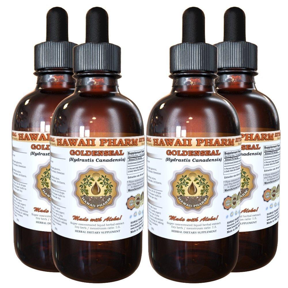 Goldenseal Liquid Extract, Organic Goldenseal (Hydrastis Canadensis) Tincture 4x4 oz