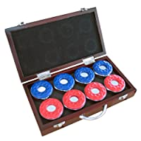 Hathaway Shuffleboard Pucks with Case, Set of 8
