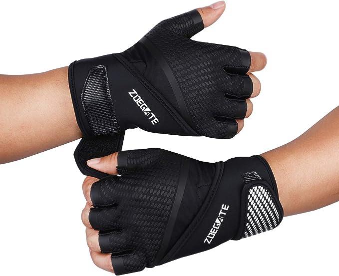 SKDK Neutral Elastisch Gym Fitness Handschuhe Hantel Gewicht Heben Bodybuildi E5
