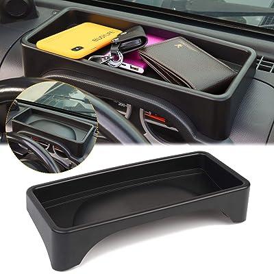 JK Dash Tray, JK Dashboard Tray Dash Storage Box Console Tray Phone Key Organizer Container for 2007-2010 Jeep Wrangler JK JKU Unlimited: Automotive