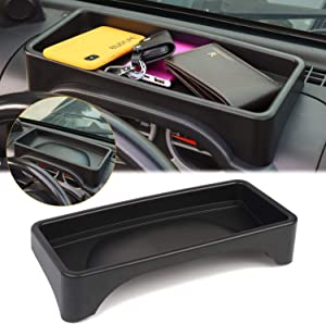 JK Dash Tray, JK Dashboard Tray Dash Storage Box Console Tray Phone Key Organizer Container for 2007-2010 Jeep Wrangler JK JKU Unlimited