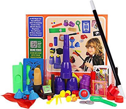 Juego de kits para principiantes de Magic para niños - 17 piezas. Accesorios de la magia. Misteriosa