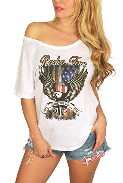 1d4fbfae Boho Country Off Shoulder Vintage Slouchy Tee T-Shirt | Rodeo Fox ...