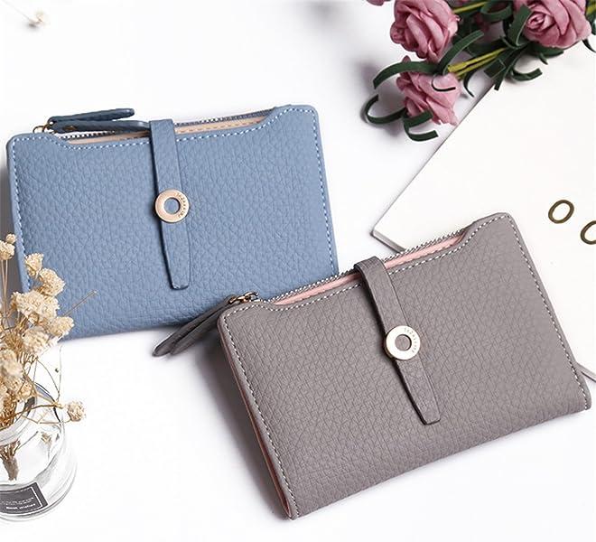 LOKOUO Women Wallet Fashion Girls Change Clasp Purse Money Coin Card Holders wallets Carteras