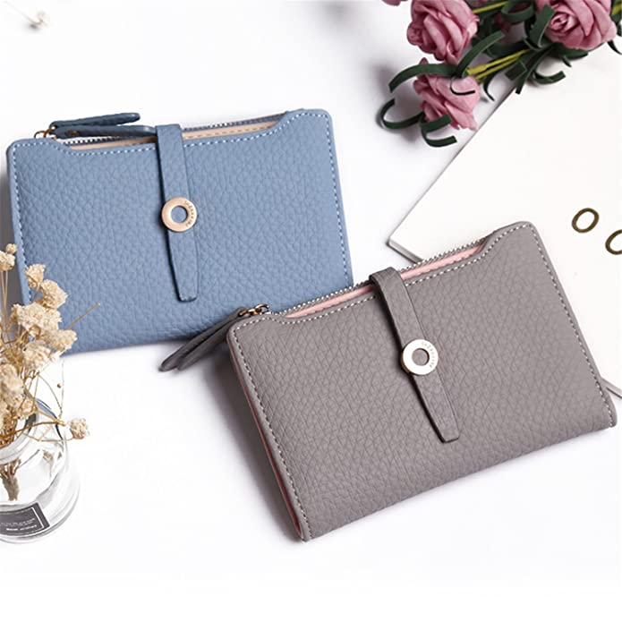 Amazon.com: LOKOUO Women Wallet Fashion Girls Change Clasp Purse Money Coin Card Holders wallets Carteras BlackOne Size: Shoes