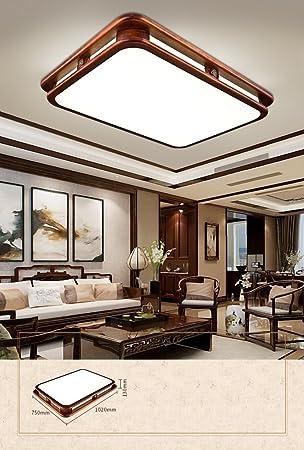 GYD LED Chinois en Bois Massif Salon Chambre à Coucher carré ...