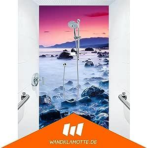 Ducha posterior una placa acrílico Plexiglás ducha baño pared Aurora Haze: Amazon.es: Bricolaje y herramientas