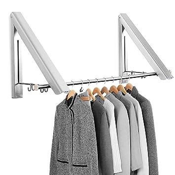 Kleiderständer Wandmontage amazon de mture klappbar wand kleiderständer kleiderhaken