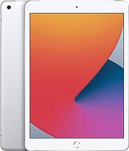 New Apple iPad (10.2-inch, Wi-Fi + Cellular, 128GB) - Silver (Latest Model, 8th Generation)
