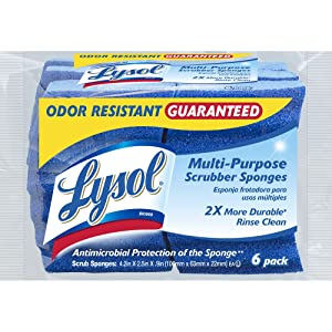 Lysol Multi-Purpose Durable Scrub Sponges, 6-Pack