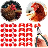 20 PCS Soft Poultry Keep Prevent Spectacle Anti-pecking Tool 48x32.5mm For Poultry Peepers Chicken micoshop One Plier Tool