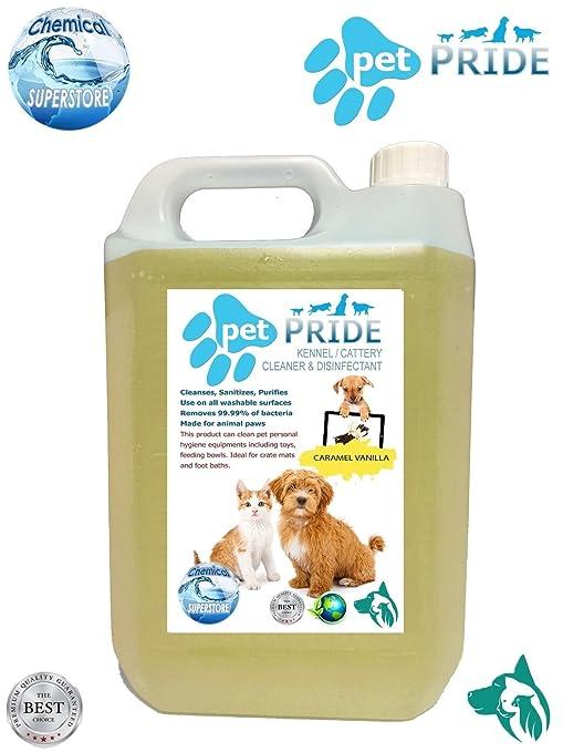 Perrera de orgullo para mascotas, desinfectante, limpiador, desodorante de 5 litros – Vainilla
