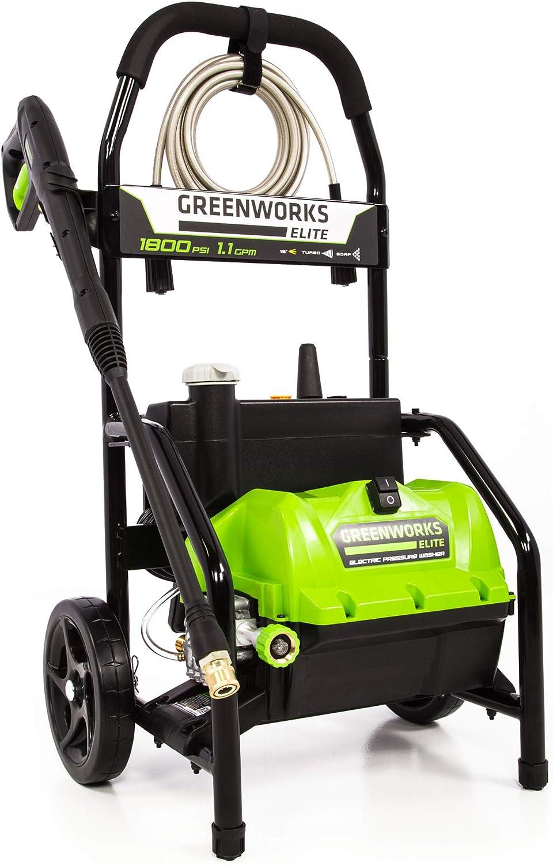Greenworks 1800 PSI 1.1 GPM Electric Pressure Washer, PW-1800