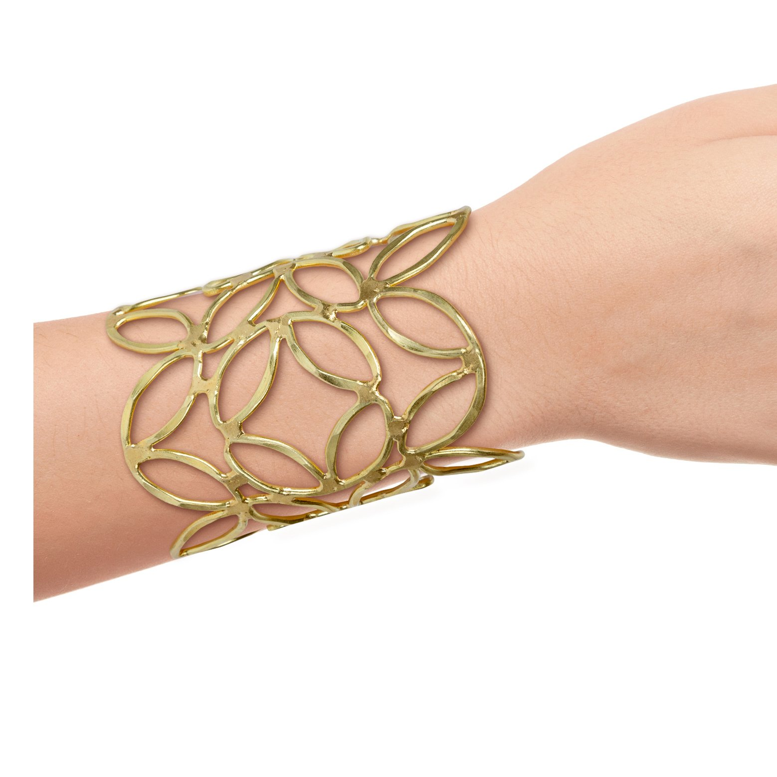 SPUNKYsoul New! Chic Gold or Silver Boho Bracelet for Women Bangle Cuff Collection Collection (Gold)