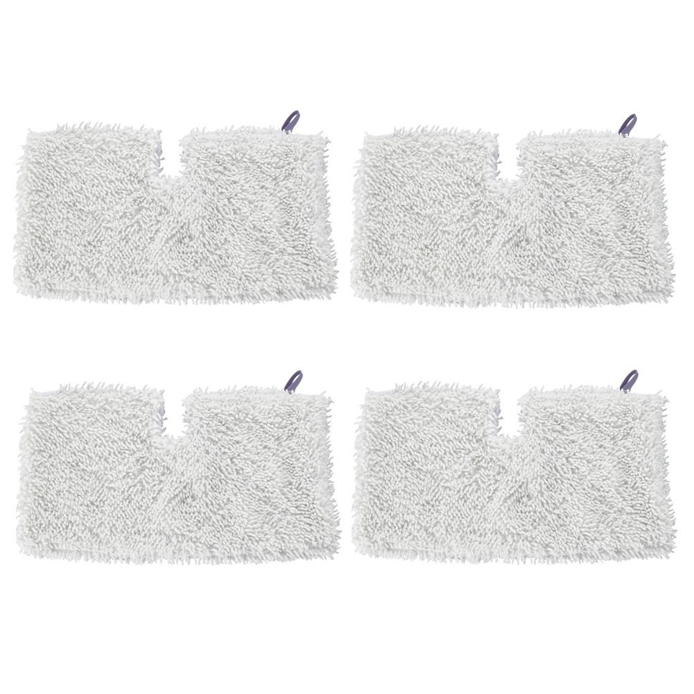 Microfiber Steam Mop Cleaning Pads for Shark Steam Mops S3500 S3501 S3601 S3550 S3901 S3801 SE450 (4 Pack White)