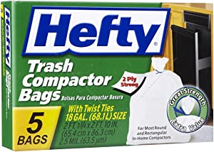 5 Count 18 Gallon Compact Bags (Pack of 12)