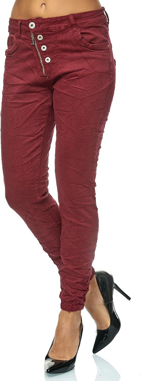 Elara Jeans para Mujer Cintura Alta Botones Chunkyrayan