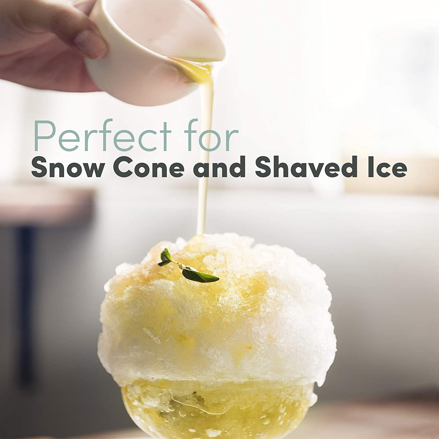 Blue Kid-Friendly Party Summer Treat Maker White Elite Gourmet EIC-629 Electric Countertop Snow Cone Hawaiian Shave Ice Machine