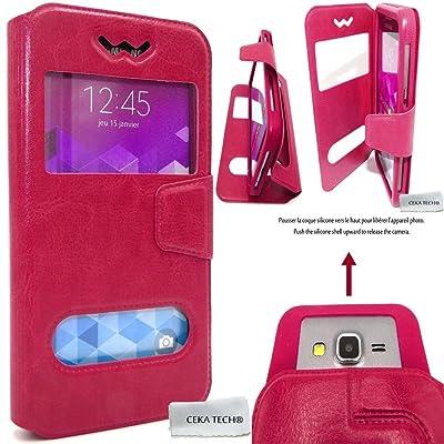 CEKA TECH Funda Samsung Galaxy Core GT-i8260 - Rosa - Cubierta Universal de Calidad